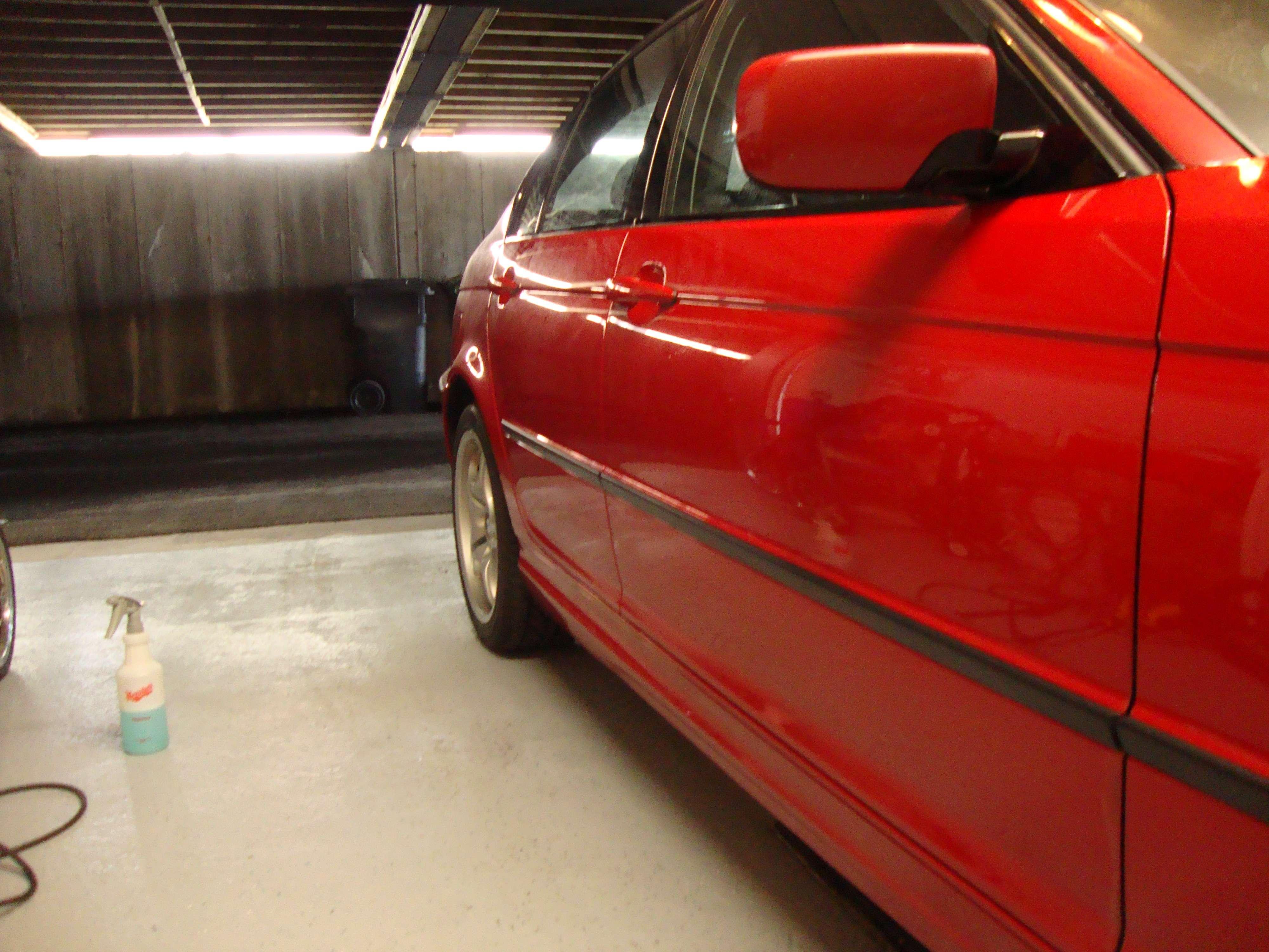 red bmw 330ix 2 step polish engine bay detailed. Black Bedroom Furniture Sets. Home Design Ideas