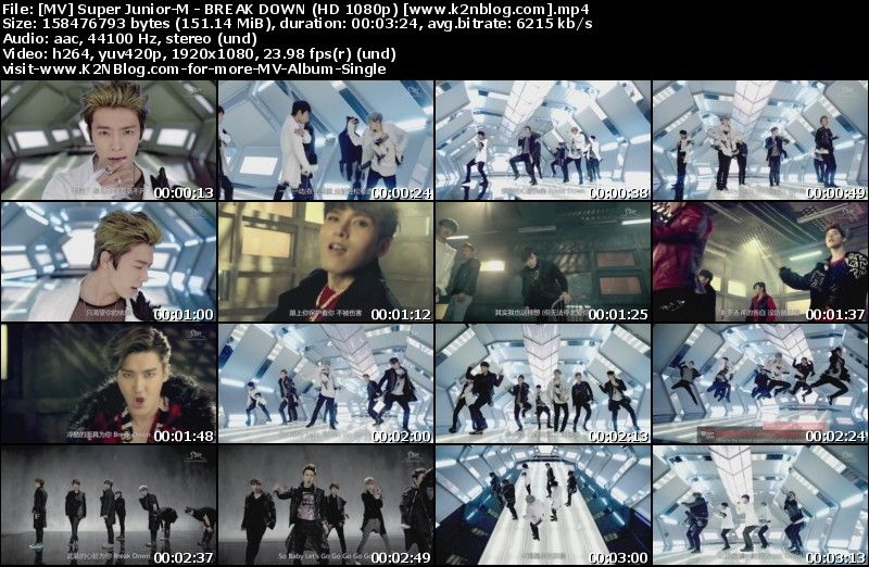 [MV] Super Junior-M - BREAK DOWN (HD 1080p Youtube)