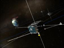 <a href='http://www.nasa.gov/images/content/512124main_themis_full.jpg' class='bbc_url' title='External link' rel='nofollow external'>� View larger</a><br /> An artist&#39;s concept of the THEMIS<br /> spacecraft orbiting around Earth.<br /> Credit: NASA