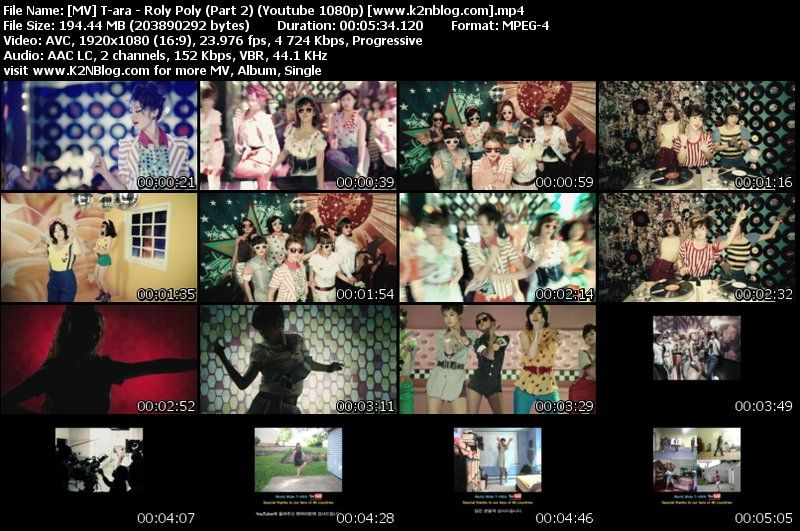 T-ara - Roly Poly (Part 2) [HD] MV Thumbnail